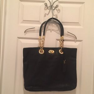 Cynthia Rowley Black Leather Shoulder bag/ Purse